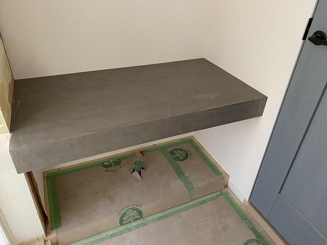 モラートで洗面カウンター。リノベ工務店 京都の株式会社サイン