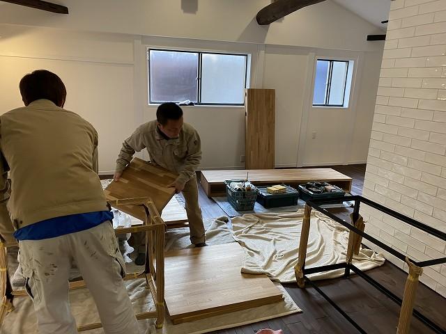 京都で人気のリノベーション工務店の株式会社サインの家具工事1