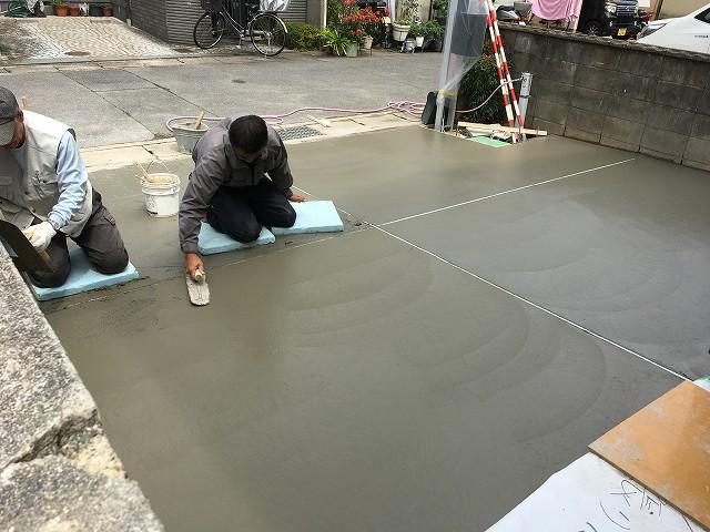 京都 リノベ 戸建てのガレージ