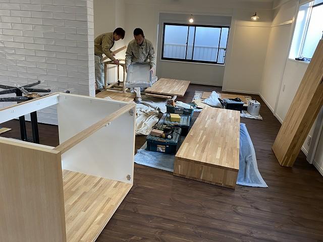 京都で人気のリフォーム・リノベーション会社の工務店。株式会社サインの家具工事