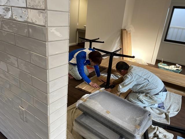 京都市で人気のリフォーム,リノベーションの工務店の株式会社サインの家具工事